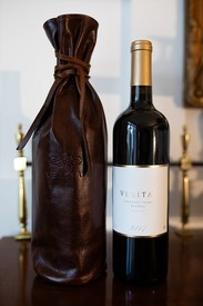 Cabernet Franc Reserve '17 and Moore and Giles Leather Wine Sleeve